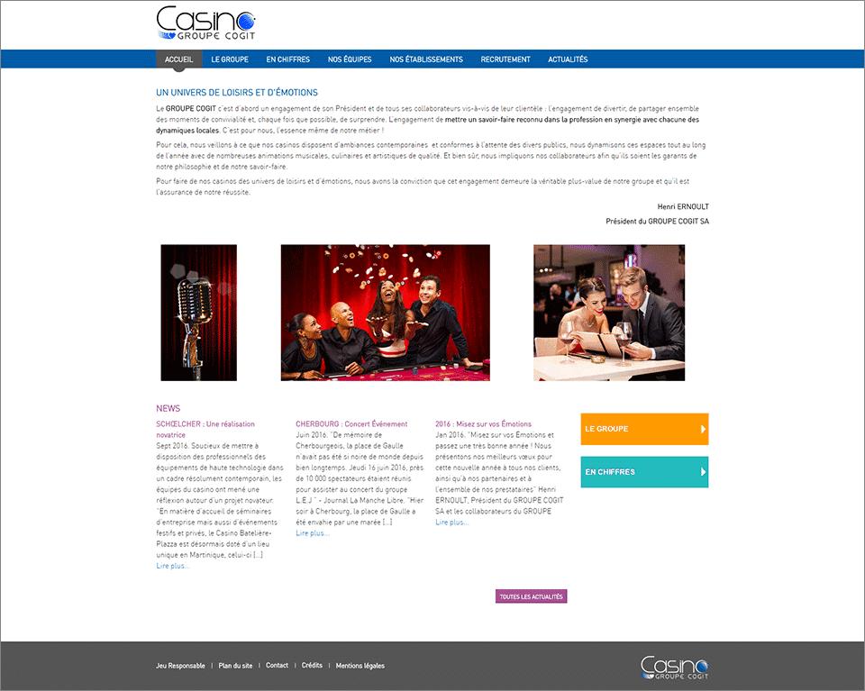 Accueil du réseau de sites du Groupe COGIT