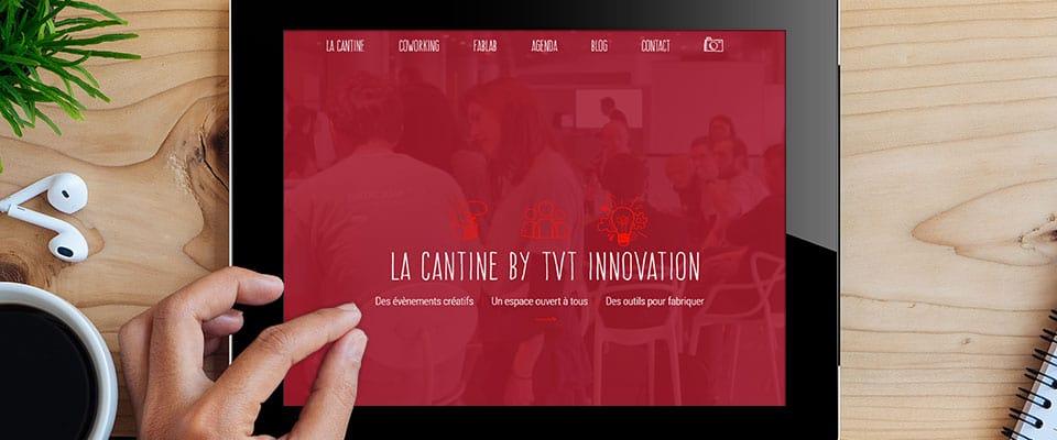 Mise en situation du site de La cantine by TVT